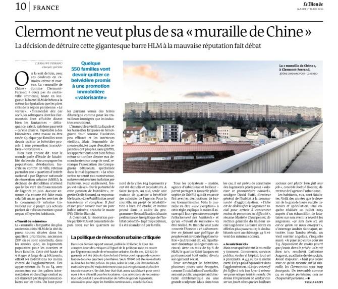 160301 Parution Le Monde